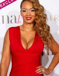 Evelyn Lozada looking beautiful in red dress